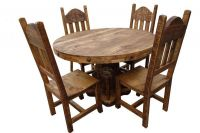 RUSTIC ROUND PEDESTAL DINING ROOMS